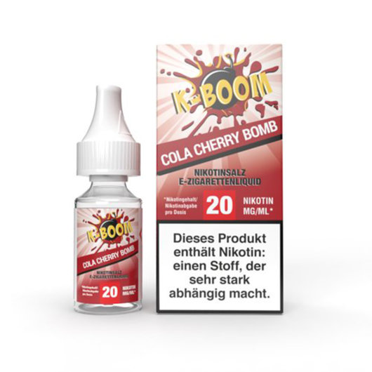 K-Boom Nic Salt - Cola Cherry bomb 10ml - 20mg